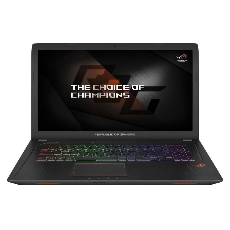 "ASUS ROG GL753VE Gaming 17.3"" Full HD Laptop - 7th Gen i7-7700HQ Processor up to 3.80 GHz, 8GB Memory, 256GB SSD + 1TB HDD, 4GB NVIDIA GeForce GTX 1050Ti Graphics, Windows 10, Metalic Black"