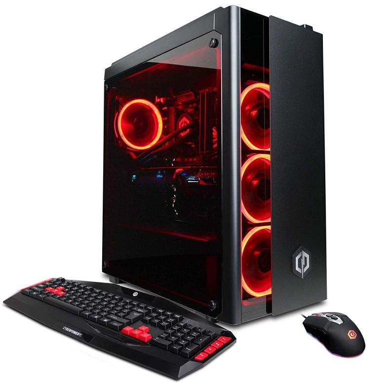 CyberpowerPC Gamer Xtreme VR with Intel i9-9900K 3.6GHz Gaming Computer, Black (GXiVR8080A5)
