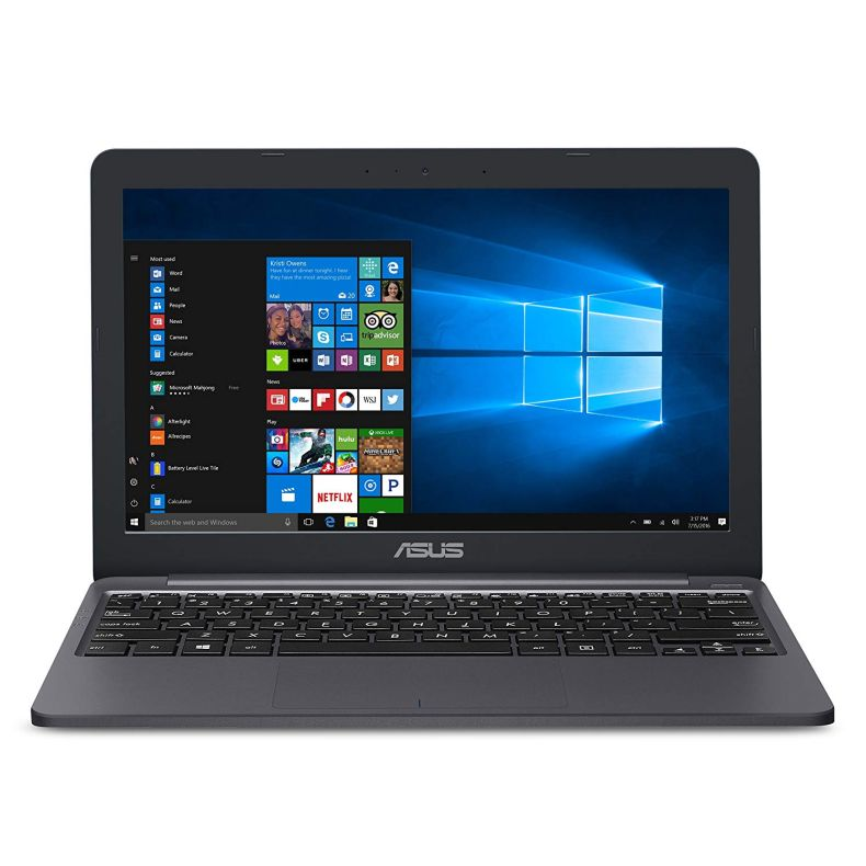 "ASUS VivoBook L203MA Ultra-Thin Laptop, 11.6"" HD, Intel Celeron N4000 Processor (up to 2.6 GHz), 4GB RAM, 64GB eMMC, USB-C, Windows 10 in S mode, One Year of Microsoft Office 365, L203MA-DS04"