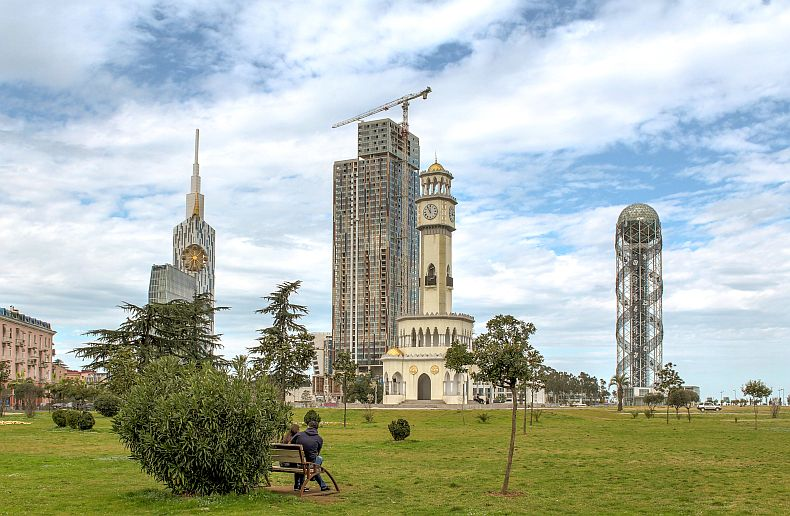 View towards Batumi skyscrapers