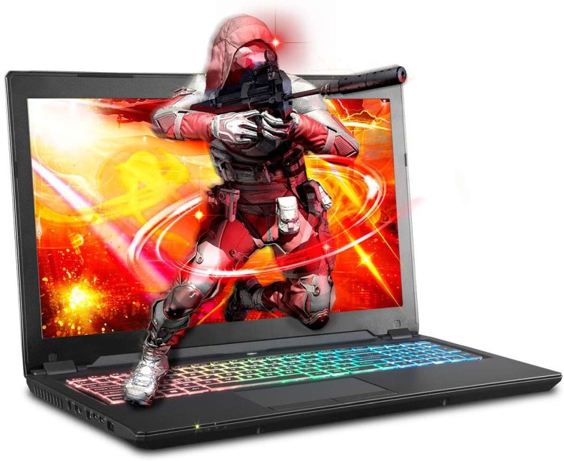 Sager NP8957 0.78 Inches Thin & Light Gaming Laptop, 15.6 Inches FHD 144Hz Display, Intel Core i7-9750H, NVIDIA RTX 2070 8GB DDR6, 16GB RAM, 500GB NVMe SSD, Windows 10 Home