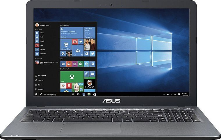 2016 ASUS 15.6 High Performance Premium HD Laptop (Intel Quad Core Pentium N3700 Processor up to 2.4 GHz, 4GB RAM, 500GB HDD, SuperMulti DVD, Wifi, HDMI, VGA, Webcam, Windows 10-silver)