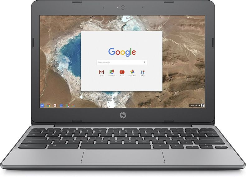 """2018 Newest HP 11.6"""" HD IPS Touchscreen Chromebook with 3x Faster WiFi - Intel Dual-Core Celeron N3060 up to 2.48 GHz, 4GB Memory, 16GB eMMC, HDMI, Bluetooth, USB 3.1, 12-Hours Battery Life"""