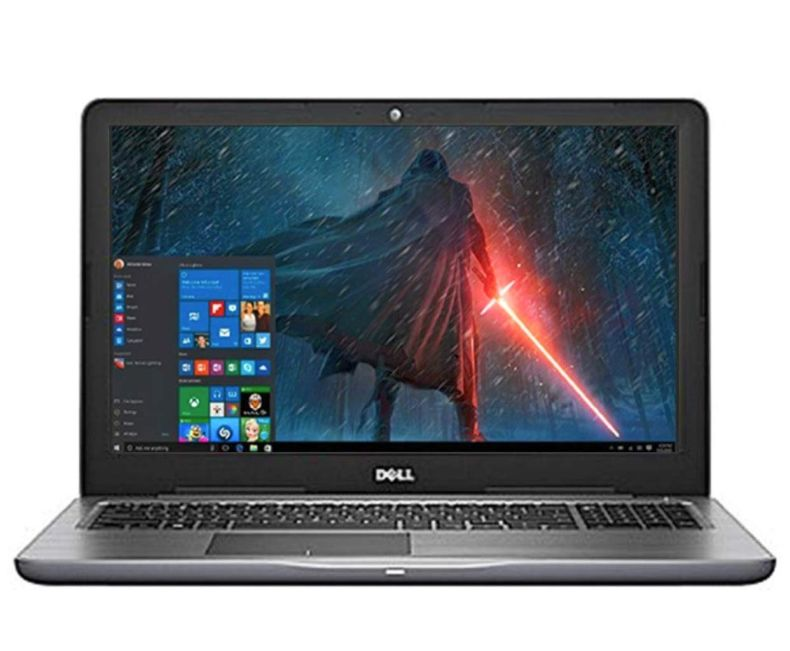 "Dell Inspiron 15.6"" LED-Backlit Display Laptop PC Intel i5-7200U Processor 8GB DDR4 RAM 256GB SSD Backlit-keyboard HDMI 802.11ac Webcam Bluetooth Windows 10-Gray"