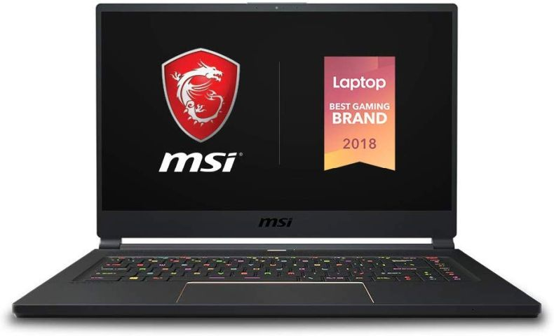 "MSI GS65 Stealth-004 15.6"" Razor Thin Bezel Gaming Laptop NVIDIA RTX 2070 8G Max-Q, 144Hz 7ms, Intel i7-8750H (6 cores), 16GB, 256GB NVMe SSD, TB3, Per Key RGB, Win10P, Matte Black w/ Gold Diamond cut"