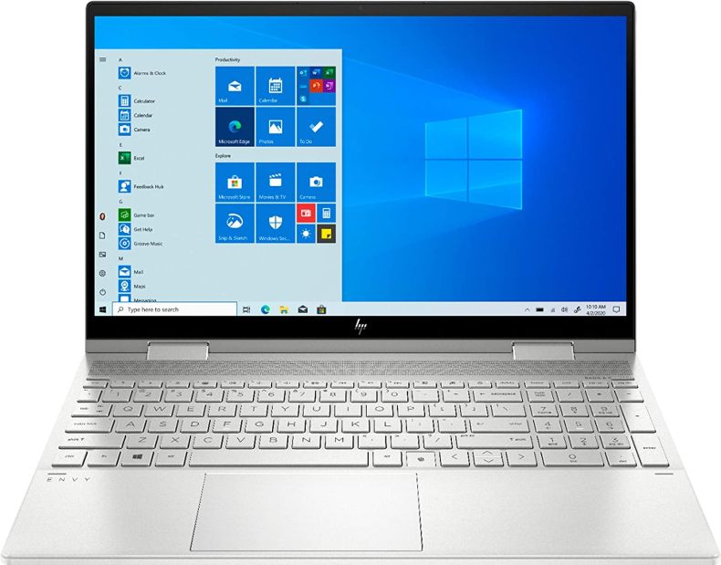 "2020 Newest HP Envy 2-in-1 15.6"" IPS FHD Touch Screen Laptop, Intel 11th Gen i5-1135G7, 16GB DDR4 RAM, 512GB SSD, Intel iRIS Xe Graphics, Backlit Keyboard, Bundle Woov Sleeve, Windows 10, Silver"