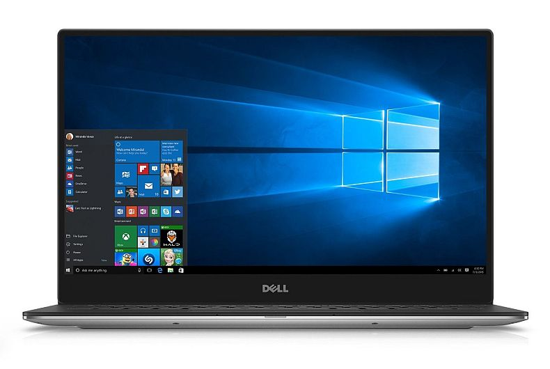 Dell XPS XPS9350-5341SLV 13.3 Inch QHD Touchscreen Laptop (Intel Core i7 with Iris Graphics, 8 GB RAM, 256 GB SSD, Silver) Microsoft Signature Image