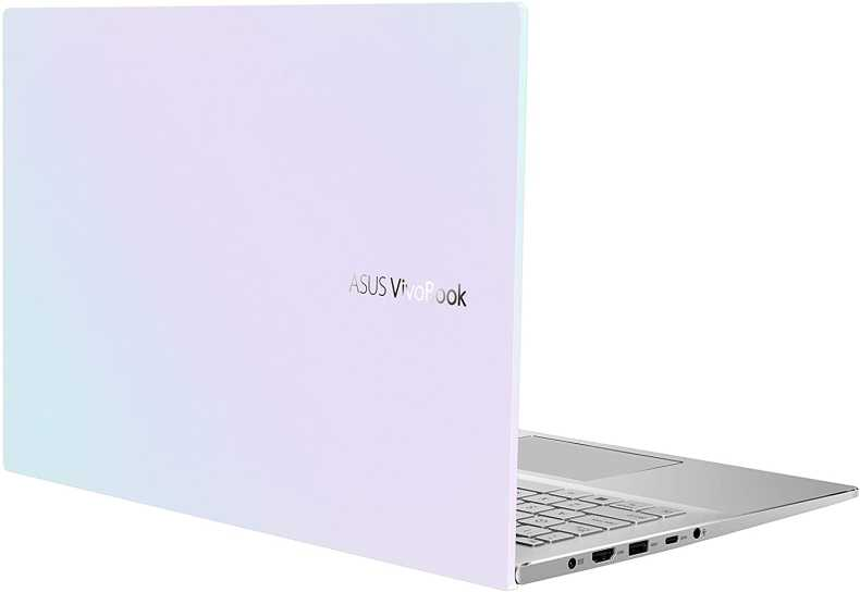 "ASUS VivoBook S15 S533 Thin and Light Laptop, 15.6"" FHD Display, Intel Core i7-1165G7 CPU, 16GB DDR4 RAM, 512GB PCIe SSD, Fingerprint Reader, Wi-Fi 6, Windows 10 Home, Dreamy White, S533EA-DH74-WH"