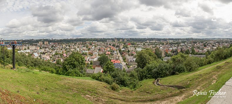 Panorama of Kaunas, Lithuania