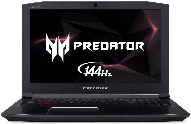 "Acer Predator Helios 300 Gaming Laptop PC, 15.6"" FHD IPS w/ 144Hz Refresh, Intel i7-8750H, GTX 1060 6GB, 16GB DDR4, 256GB NVMe SSD, Aeroblade Metal Fans PH315-51-78NP"