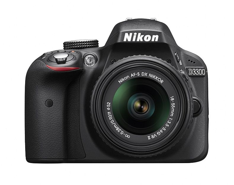 Nikon D3300 1532 18-55mm f/3.5-5.6G VR II Auto Focus-S DX NIKKOR Zoom Lens 24.2 MP Digital SLR – Black