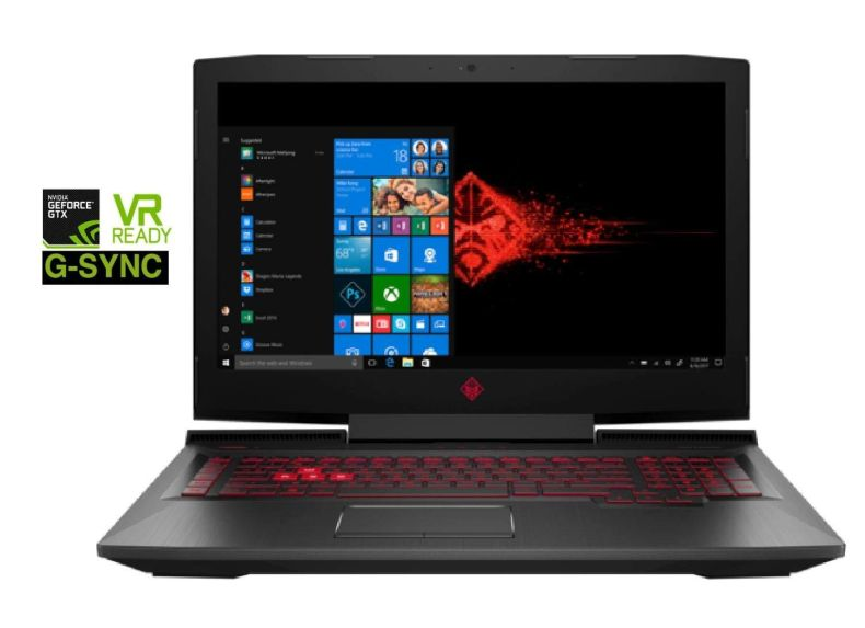 "HP OMEN 17t Premium Gaming and Business Laptop (Intel 8th Gen Coffee Lake i7-8750H, 16GB RAM, 1TB HDD + 256GB PCIe SSD, 17.3"" FHD (1920x1080) G-SYNC, GTX 1070, Thunderbolt 3, Win 10 Home) VR Ready"
