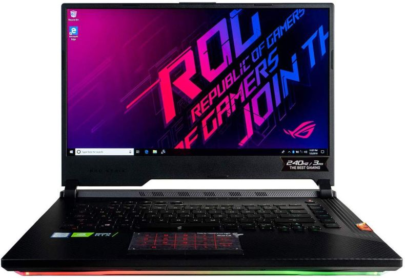 "CUK ASUS ROG Strix Scar III G531GW Gaming Laptop (Intel i7-9750H, 32GB RAM, 2TB NVMe SSD + 2TB HDD, NVIDIA GeForce RTX 2070 8GB, 15.6"" Full HD IPS 240Hz 3ms, Windows 10 Home) Gamer Notebook Computer"