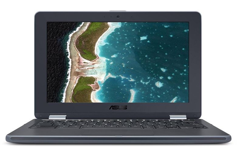 ASUS Chromebook Flip C213SA-YS02 11.6 inch Ruggedized & Spill Proof, Touchscreen, Intel Dual-Core Apollo Lake N3350 , 4GB DDR4 RAM, 32GB Flash Storage, USB Type-C, Supports Android Apps