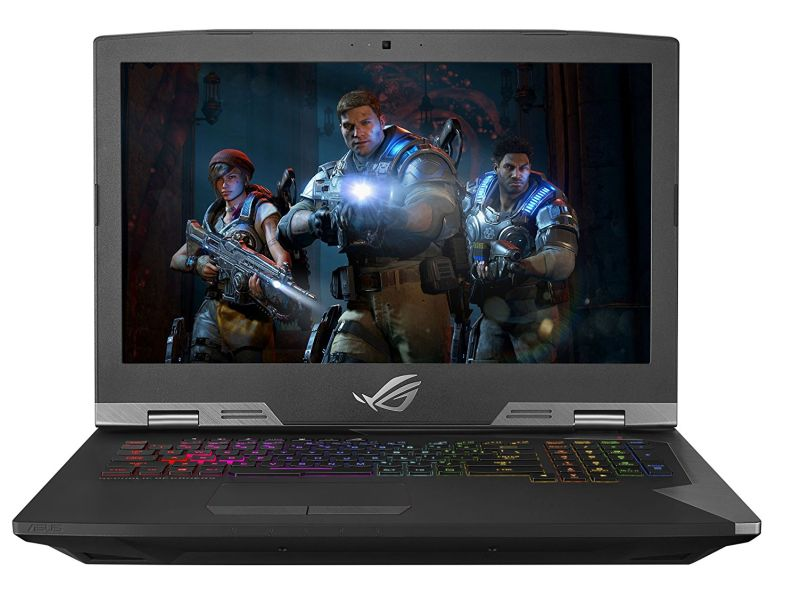 "ASUS ROG G703 Desktop Replacement Gaming Laptop, Unlocked Core i9-8950HK Processor, Overclocked GTX 1080 8GB, 17.3"" 144Hz 3ms G-SYNC, 2 X 256GB PCIe SSD + 2TB FireCuda SSHD, 32GB DDR4"