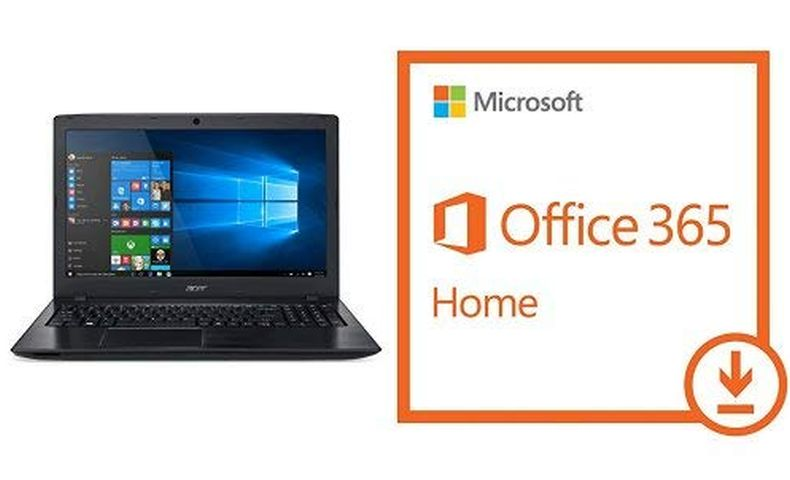 "Acer Aspire E 15, 15.6"" Full HD, 8th Gen Intel Core i3-8130U, 6GB RAM Memory, 1TB HDD, 8X DVD, E5-576-392H with Microsoft Office 365 Home"