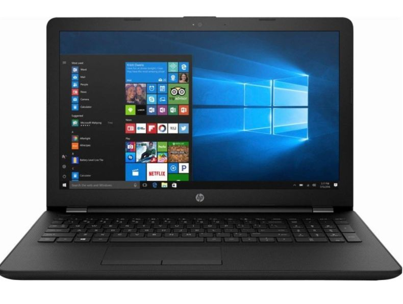 "HP 15.6"" HD Flagship Thin and Light LED Backlight Laptop, AMD A6-9225 2.6GHz, Choose Ram & HD Size (4GB/8GB, 256GB/512G SSD, 1TB HDD), DVD-RW, Gigabit Ethernet, Jet Black, HDMI, Windows 10"