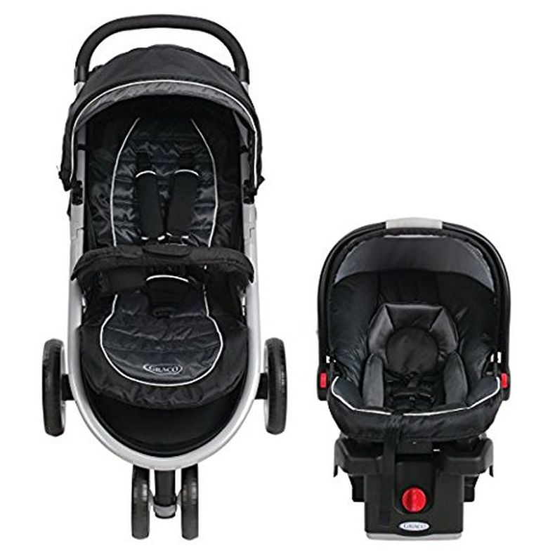 Baby Stroller and Car Seat Combo Premium Lightweight Pram Travel System Graco Click N Connect Jogger in Modern Style