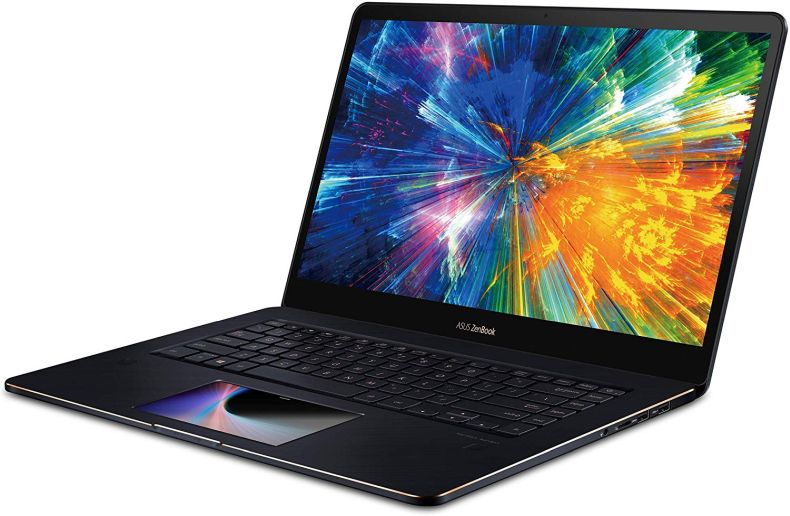 "ASUS ZenBook Pro 15 Laptop with Innovative Screenpad, 15.6"" UHD 4K Touch, Intel Core i9-8950HK, NVIDIA GeForce GTX 1050 Ti, 16GB DDR4 RAM, 512GB PCIe SSD, Backlit KB, Windows 10 Pro, UX580GE-XB74T"