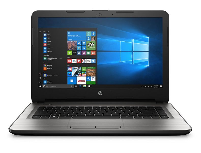 HP 14-inch Laptop, AMD E2-7110, 4GB RAM, 32GB eMMC, Windows 10 (14-an013nr, Silver)