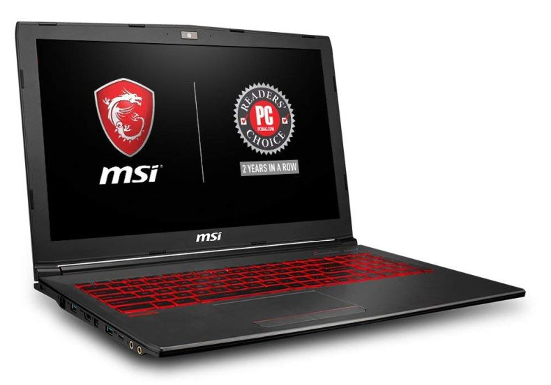 "MSI GV62 8RD-200 15.6"" Full HD Performance Gaming Laptop PC i5-8300H, GTX 1050Ti 4G, 8GB RAM, 16GB Intel Optane Memory + 1TB HDD, Win 10 64 bit, Black, Steelseries Red Backlit Keys"