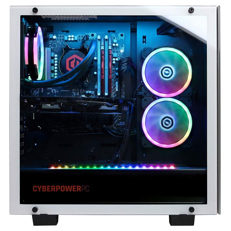 CYBERPOWERPC Gamer Supreme Liquid Cool SLC10220CPG Gaming PC (Intel i9-9900K 3.6GHz, 16GB DDR4, NVIDIA GeForce RTX 2080 8GB, 480GB SSD, 3TB HDD, WiFi & Win 10 Home) White