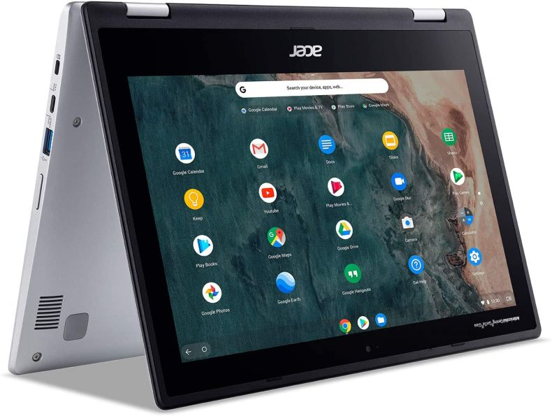 "Acer Chromebook Spin 311 Convertible Laptop, Intel Celeron N4020, 11.6"" HD Touch, 4GB LPDDR4, 32GB eMMC, Gigabit Wi-Fi 5, Bluetooth 5.0, Google Chrome, CP311-2H-C679"