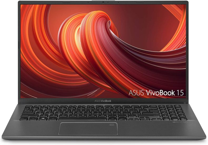 "ASUS F512DA-EB51 VivoBook 15 Thin And Light Laptop, 15.6"" Full HD, AMD Quad Core R5-3500U CPU, 8GB DDR4 RAM, 256GB PCIe SSD, AMD Radeon Vega 8 Graphics, Windows 10 Home,Slate Gray"