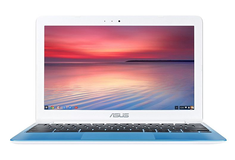 ASUS C201 11.6 Inch Chromebook (Rockchip, 4 GB, 16GB SSD, Pearl White/Light Blue)