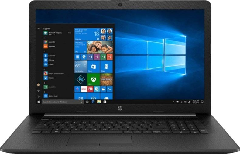 "HP 17.3"" HD+ Flagship Home & Business Laptop, Intel Quad Core i5-8265U Processor Upto 3.9GHz, 8GB RAM, 256GB SSD, DVD-RW, WiFi, HDMI, GbE LAN, Bluetooth, Windows 10, Black"