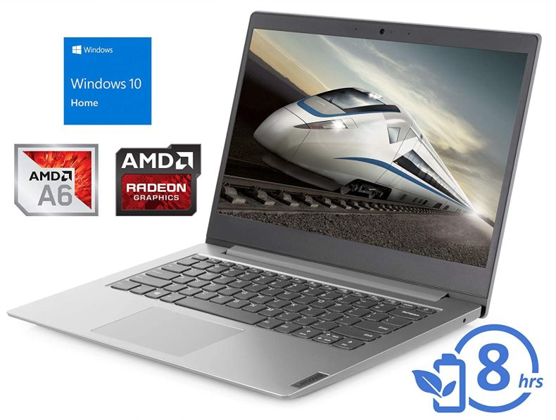 "Lenovo IdeaPad S150 (81VS0001US) Laptop, 14"" HD Display, AMD A6-9220e Upto 2.4GHz, 4GB RAM, 64GB eMMC, HDMI, Card Reader, Wi-Fi, Bluetooth, Windows 10 Home, Silver"