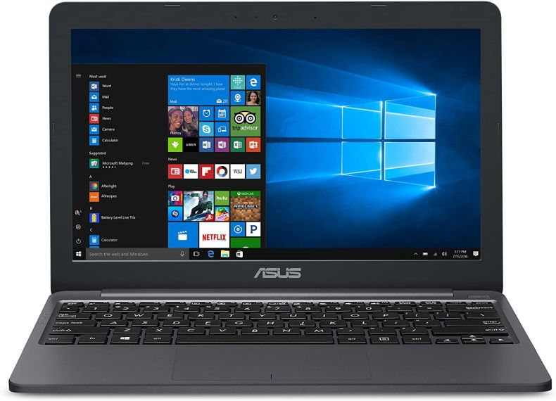 "ASUS L203MA-DS04 VivoBook L203MA Laptop, 11.6"" HD Display, Intel Celeron Dual Core CPU, 4GB RAM, 64GB Storage, USB-C, Windows 10 Home In S Mode, Up To 10 Hours Battery Life, One Year Of Microsoft 365"
