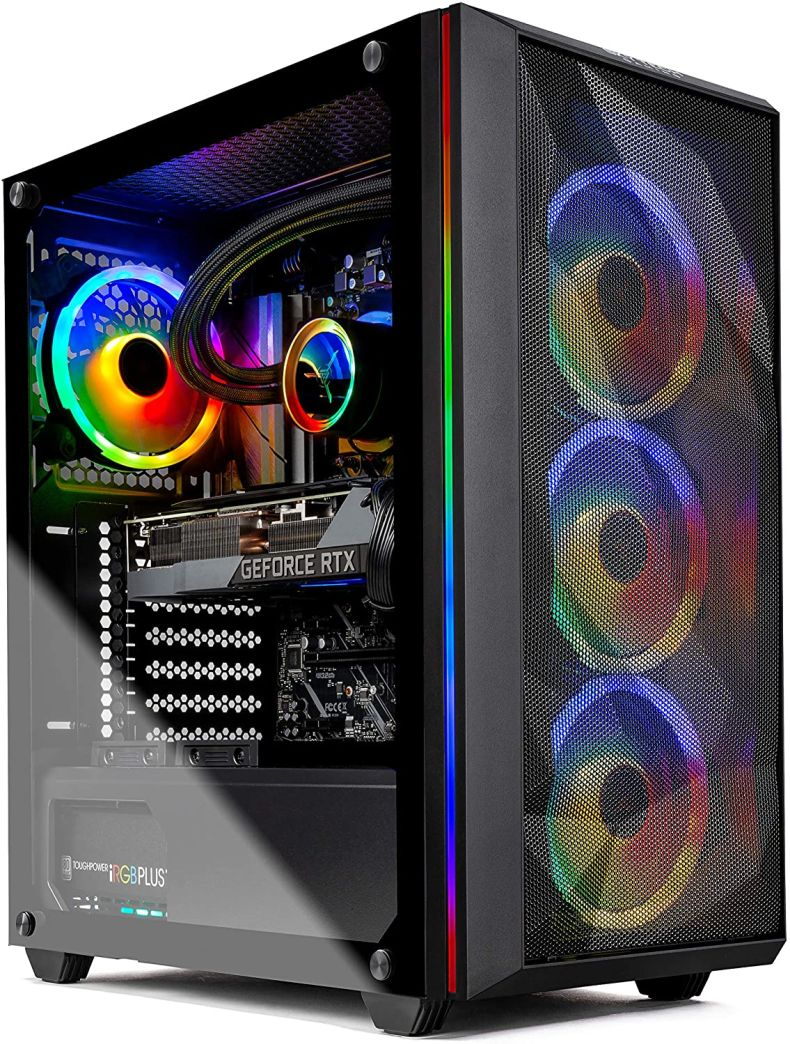 Skytech Chronos Gaming PC Desktop - AMD Ryzen 9 3900 3.1GHz, RTX 3080 10GB, 16GB DDR4, Seagate Firecuda 520 1TB PCIe Gen4 NVMe, X570 Motherboard, 360mm AIO, 850W Gold PSU, Black