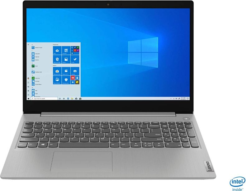 "Lenovo IdeaPad 3 15"" HD Touch Screen Laptop, Intel 10th Gen Dual-Core i5-1035G1 CPU, 12GB DDR4 RAM, 256GB PCI-e SSD, Webcam, WiFi 5, Bluetooth, Windows 10 S Platinum Grey"