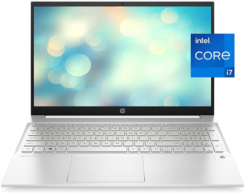 HP Pavilion 15 Laptop, 11th Gen Intel Core i7-1165G7 Processor, 16 GB RAM, 512 GB SSD Storage, Full HD IPS Micro-Edge Display, Windows 10 Pro, Compact Design, Long Battery Life (15-eg0021nr, 2020)