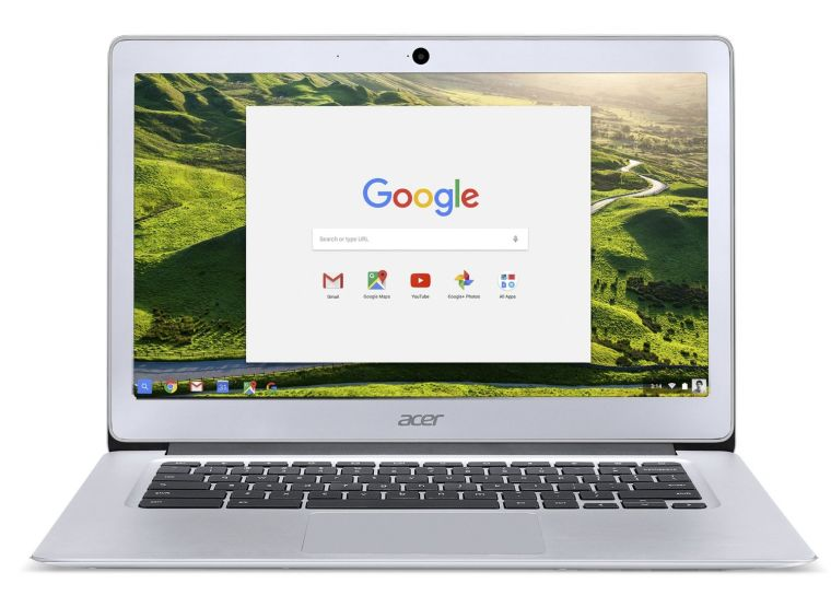 Acer Chromebook 14, Aluminum, 14-inch Full HD, Intel Celeron Quad-Core N3160, 4GB LPDDR3, 32GB, Chrome, CB3-431-C5FM
