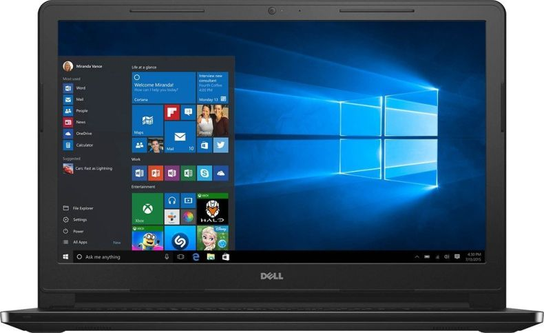 "Dell Inspiron 15.6"" Touchscreen HD I3558-5501BLK Laptop (Model), Intel Core i5-5200U Processor, 8GB Memory, 1TB HDD, HDMI, Bluetooth, DVD-RW, WiFi, HD Webcam, Windows 10"