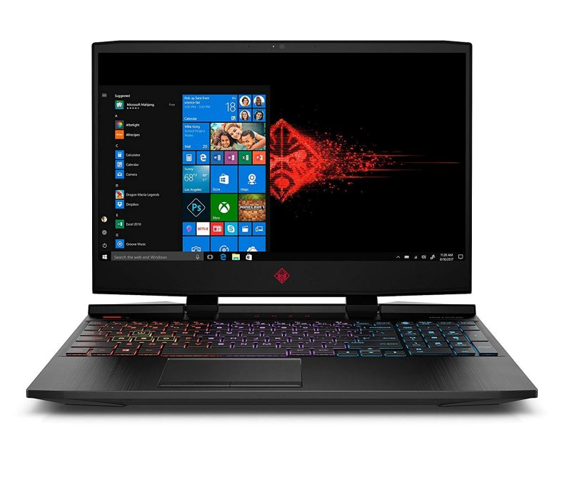 OMEN by HP 15.6 Inch Gaming Laptop, i7-8750H Processor, GeForce GTX 1060, Anti-Glare FHD Display,16GB 2666MHZ RAM, 1TB HDD & 128GB PCIE SSD, Windows 10, (15-dc0030nr, Black), Metal Chassis, RGB Keys