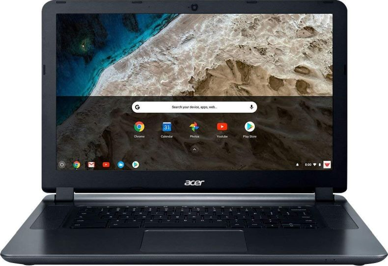 "Acer 15.6"" HD WLED Chromebook 15 with 3X Faster WiFi Laptop Computer, Intel Celeron Core N3060 up to 2.48GHz, 4GB RAM, 16GB eMMC, 802.11ac WiFi, Bluetooth 4.2, USB 3.0, HDMI, Chrome OS"