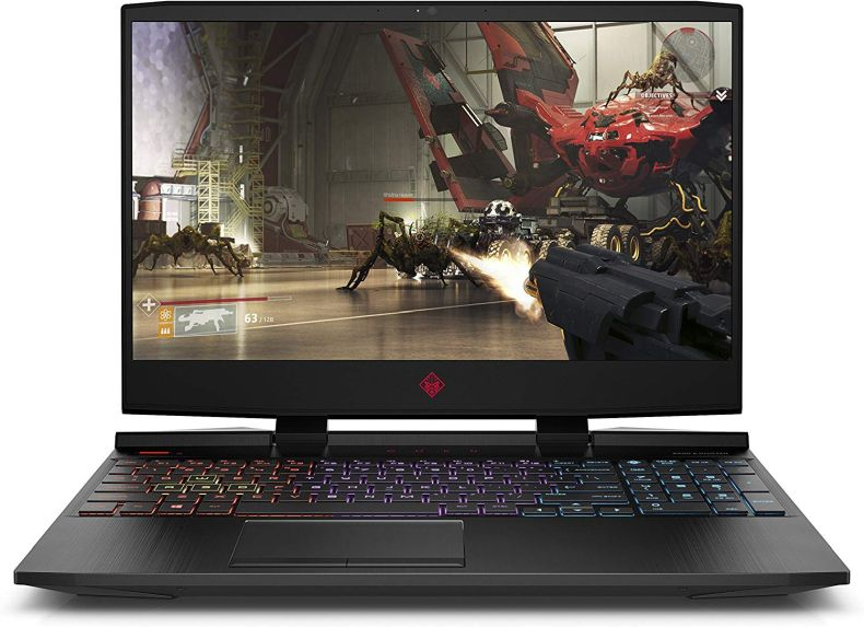 Omen by HP 2019 15-Inch Gaming Laptop, Intel i7-8750H Processor, NVIDIA RTX 2070 8 GB, 16 GB RAM, 128 GB SSD, 1 TB HDD, VR Ready, Windows 10 Home (15-dc1040nr, Black)