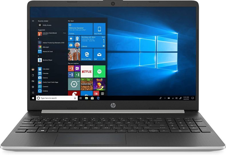 "New HP 15.6"" HD Touchscreen Laptop Intel Core i3-1005G1 8GB DDR4 RAM 128GB SSD HDMI Bluetooth 802.11/b/g/n/ac Windows 10 15-dy1731ms Silver"