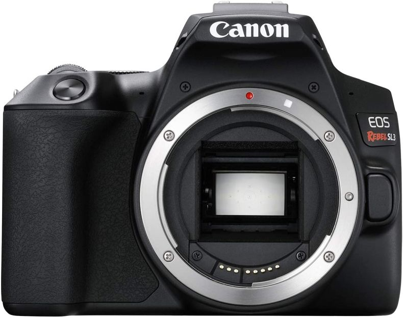 CANON EOS REBEL SL3 DSLR Camera, Built-in Wi-Fi, Dual Pixel CMOS AF and 3.0 inch Vari-angle Touch Screen, Body, Black