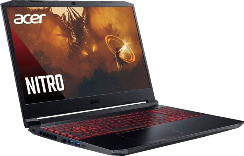"Acer Nitro 5 15.6"" FHD Gaming Laptop Computer, AMD Ryzen 5 4600H (Beat i7-9750H), GTX 1650, 6 Cores up to 4.00 GHz, 16GB RAM, 256GB SSD, HDMI USB-C WiFi-6 RJ-45 Wireless-AC, Win 10 w/GM Accessories"