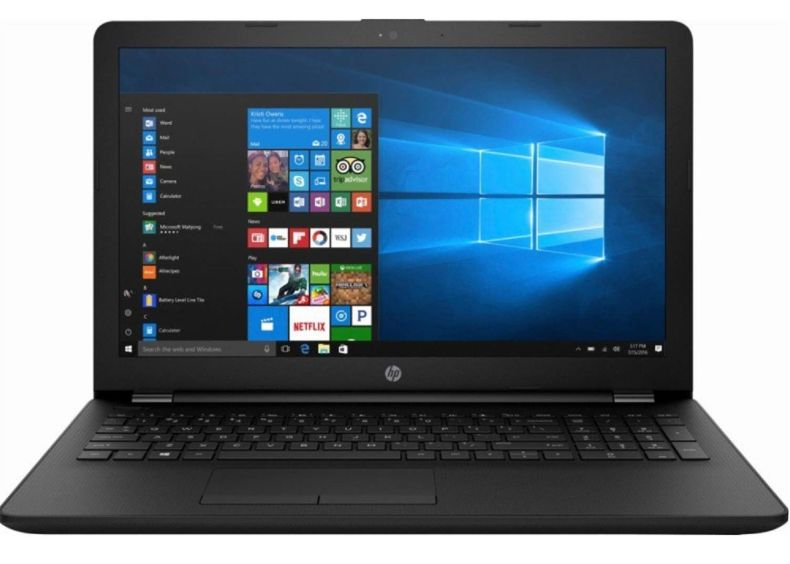 HP 15.6 Inch Thin and Light Laptop AMD A6-9225 Upto 2.6Ghz Bluetooth HDMI DVD Windows 10 Upgrade up to 8GB and 512 SSD