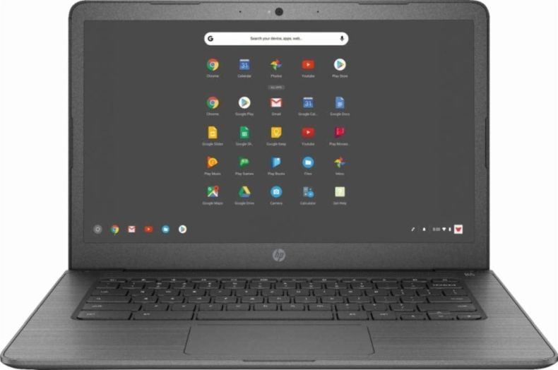 "HP 14"" Lightweight Chromebook-AMD A4-Series Processor, 4GB LPDDR4 RAM, 32GB SSD, WiFi, Chrome OS"