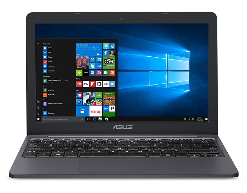 "ASUS VivoBook E203MA Ultra Thin Laptop, Intel Celeron N4000 Processor (up to 2.6 GHz), 4GB LPDDR4 , 64GB eMMC Flash Storage, 11.6"" HD Display, USB-C, Windows 10 S Mode, E203MA-YS03"