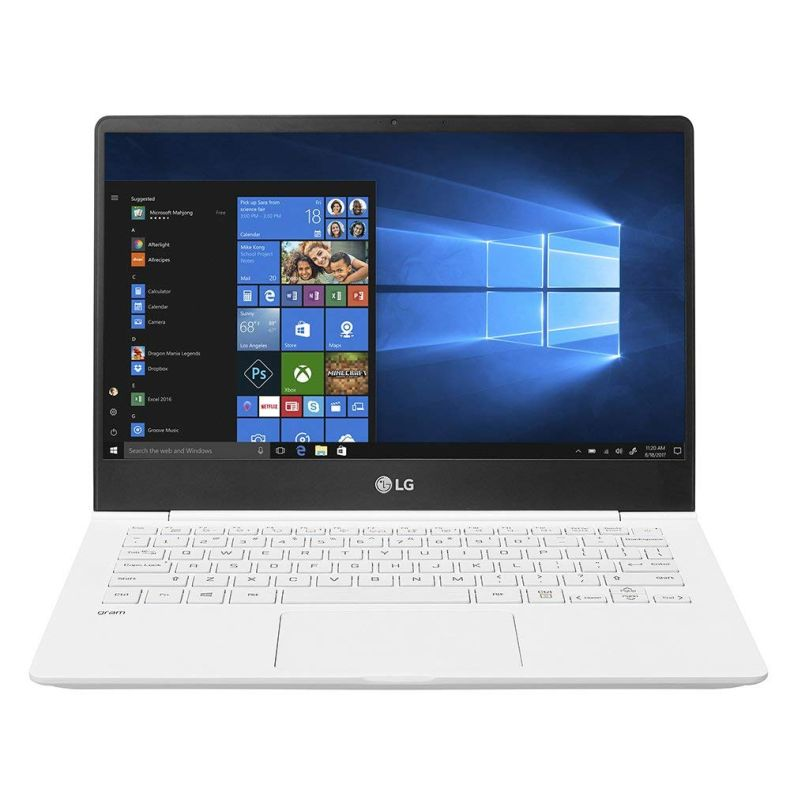 "LG Gram Thin and Light Laptop – 13.3"" Full HD IPS Display, Intel Core i5 (8th Gen), 8GB RAM, 256GB SSD, Back-lit Keyboard - White – 13Z980-U.AAW5U1"