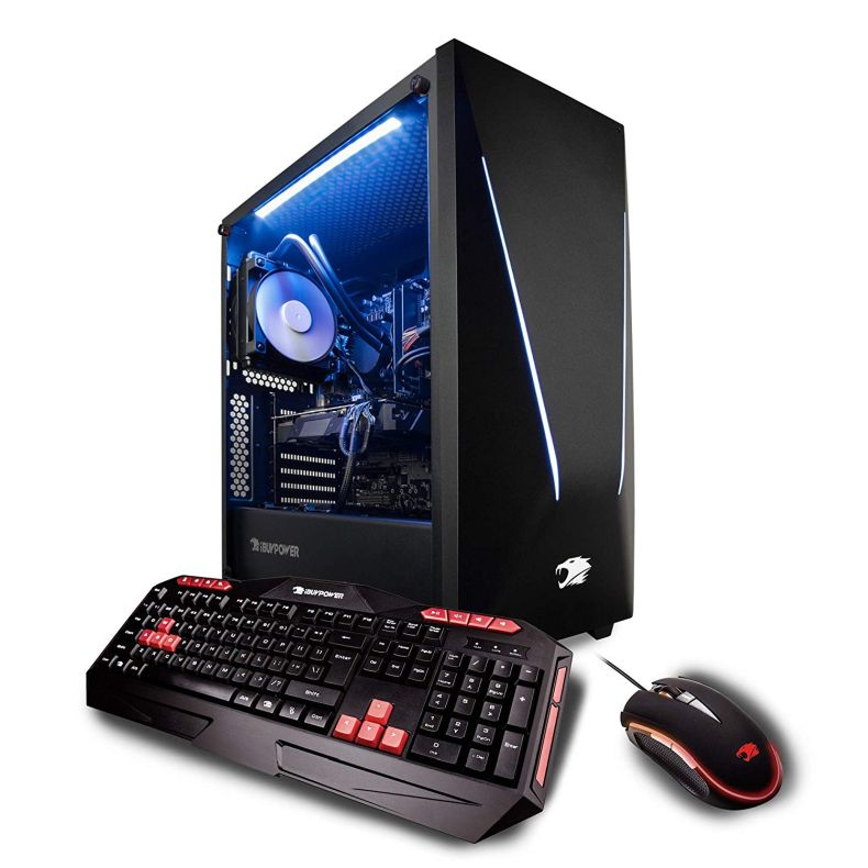 iBUYPOWER Pro Gaming PC Computer Desktop Intel i9-9900k 8-Core 3.6 GHz, Geforce RTX 2080 8GB, 16GB DDR4, 1TB HDD, 240GB SSD, Z370, Liquid Cooling, WiFi Ready, Windows 10, VR Ready (Trace 053i)