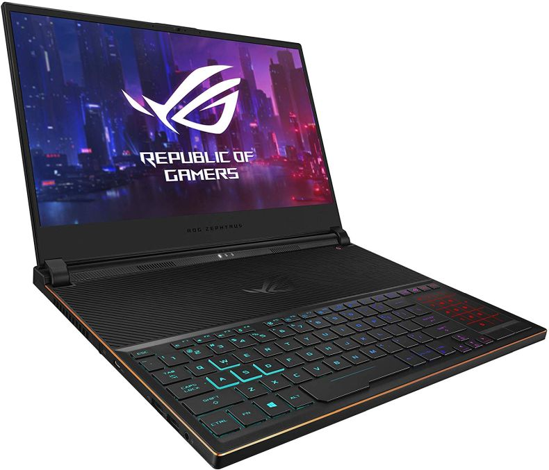 "ASUS ROG Zephyrus S Ultra Slim Gaming Laptop, 15.6"" 144Hz IPS Type FHD, GeForce RTX 2070, Intel Core i7-8750H, 16GB DDR4, 512GB PCIe NVMe SSD, Aura Sync RGB, Windows 10 64-bit, GX531GW-AS76 .62"" Thin"