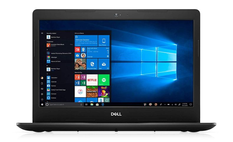 "2020 Dell Inspiron 14"" Laptop Computer, 10th Gen Intel Quad-Core i5 1035G4 Up to 3.7GHz (Beat i7-7500u), 4GB DDR4 RAM, 128GB PCIe SSD, 802.11ac WiFi, Windows 10, EST 500GB External Hard Drive"